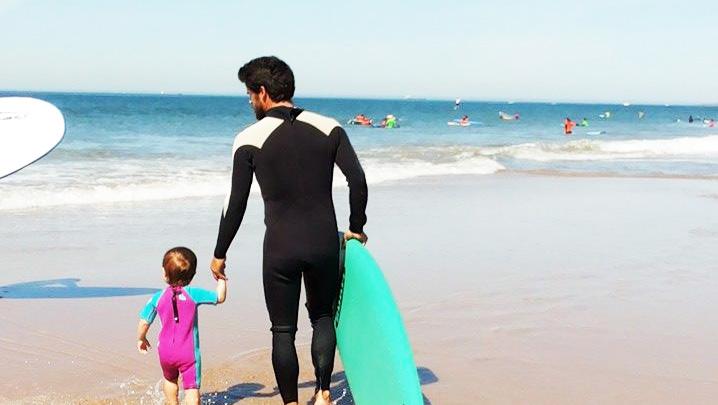 As crianças e o Surf